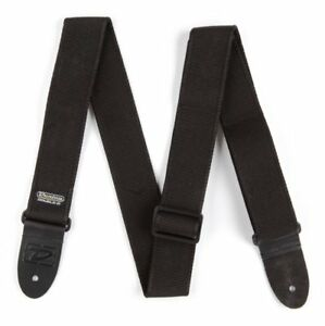 Dunlop-DD40-09BK-2in-Jacquard-Woven-guitar-strap-Solid-Black-Extra-Long