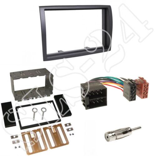 Doble DIN autoradio radio diafragma ISO cable del adaptador Fiat Ducato ab07 enmarcar