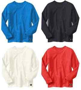 GAP-KIDS-boys-long-sleeve-T-shirt-top-PLAIN-cotton-V-neck-8-9-10-11-12-13-14