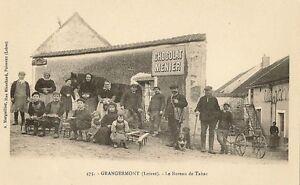 Carte postale grangermont loiret le bureau de tabac chocolat menier