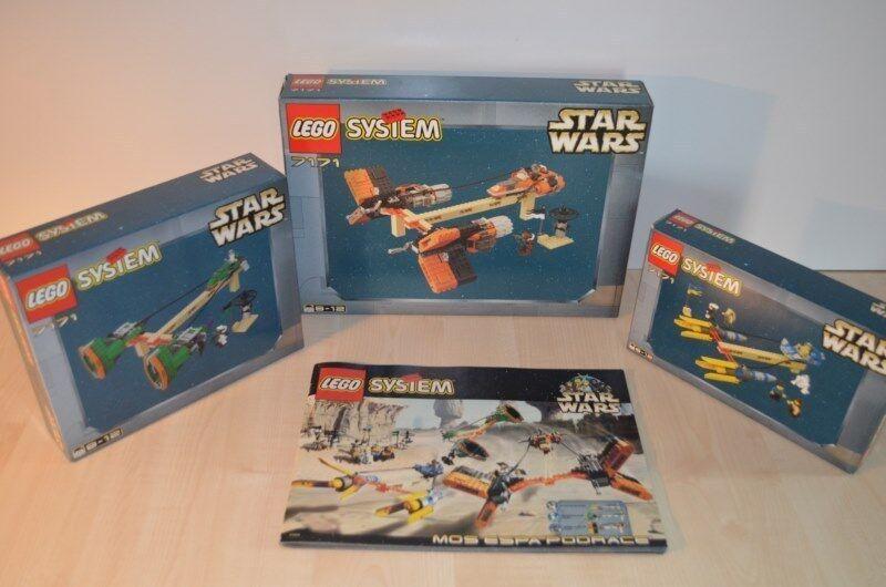 01082 LEGO Star Wars Episode I - Mos Espa Podrace 7171 + BOX & PLAN MIB