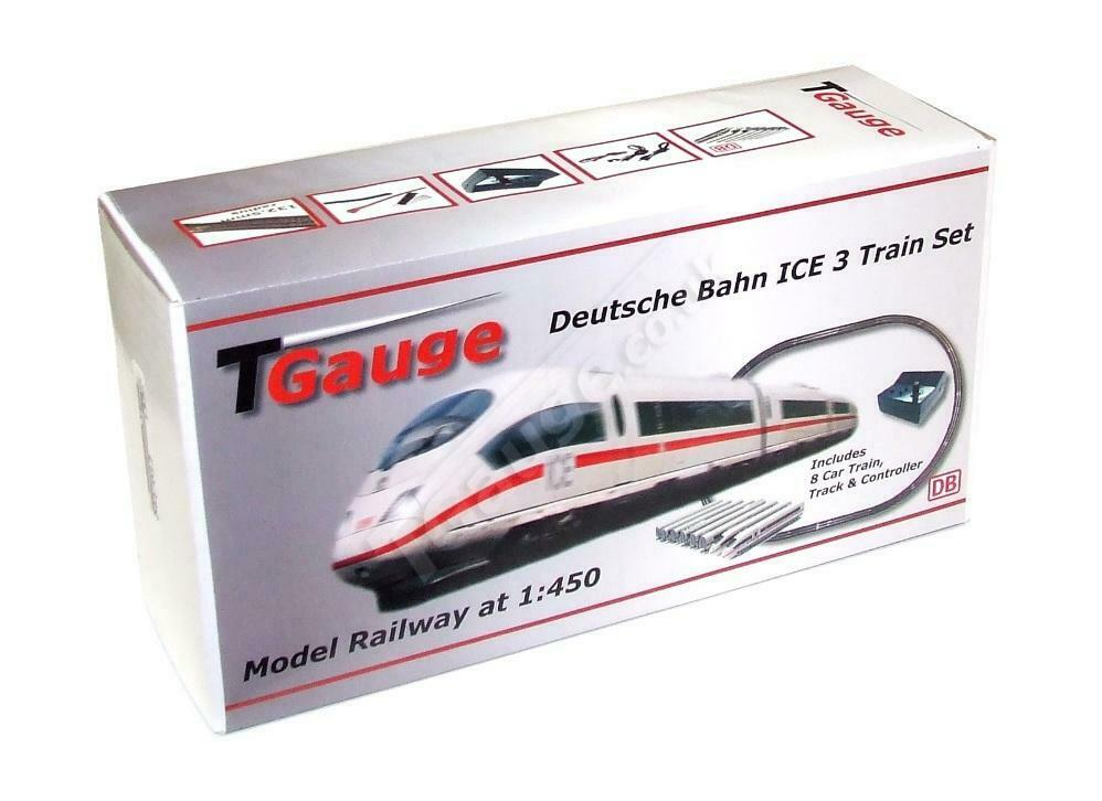 T calibre 1 450 escala alemán ferrocarriles ICE 8 Coche Pista De Bucle Starter Set con 120mm