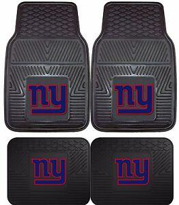 New-York-Giants-Heavy-Duty-NFL-Floor-Mats-2-amp-4-pc-Sets-for-Cars-Trucks-amp-SUV-039-s