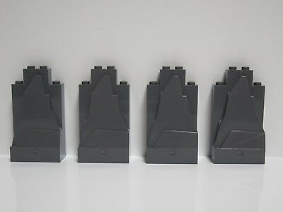New LEGO Dark Bluish Gray 2x4x6 Rock Panel Wall