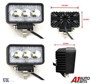 2-x-Haute-Puissance-12V-24V-LED-travail-lampes-projecteur-feux-CAMION-VOITURE
