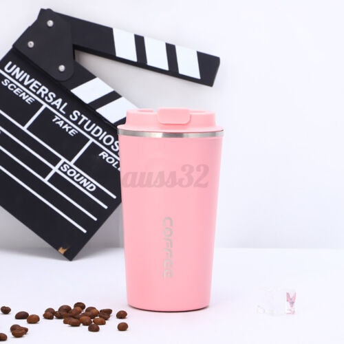 Insulated Thermal Travel Coffee Mug Flask Cup Removable Lid Keep Drink Warm