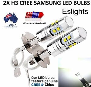2X-H3-LED-CREE-XBD-HEADLIGHT-FOG-DRIVING-LIGHT-BULB-CAR-UTE-4WD-LAMP-GLOBE