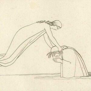 Divine-comedie-Purgatoire-Mathilde-Dante-Fleuve-Lethe-John-Flaxman-Gravure-XIXe