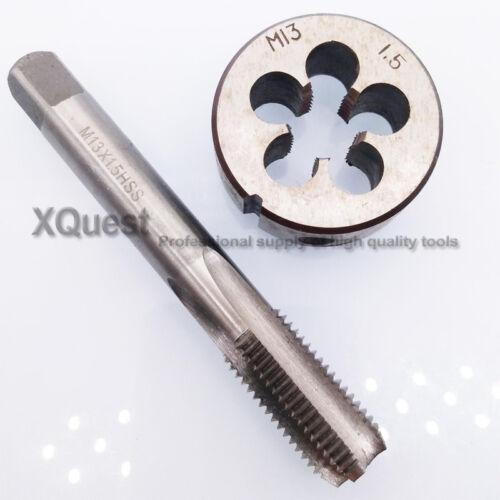 High Speed Steel Hand Tap Et Die Set M13X1.5X1.25 FINE Filetage Tarauds Matrices M13X1X0.75X0.5