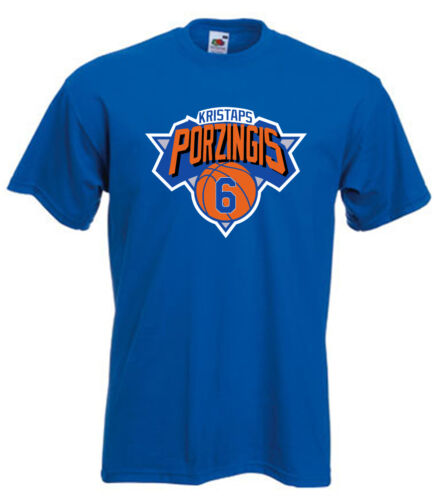 "Kristaps Porzingis New York Knicks /""Logo/"" T-shirt  S-5XL"