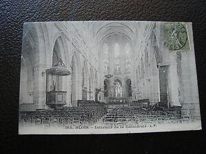 Francia-Tarjeta-Postal-1910-Blois-Interior-de-La-Catedral-cy68-Francesa