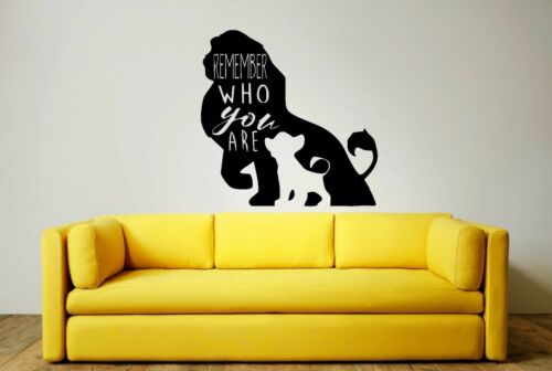 DECAL Mufasa Simba 3 x sizes LION KING WALL ART STICKER many colour choices