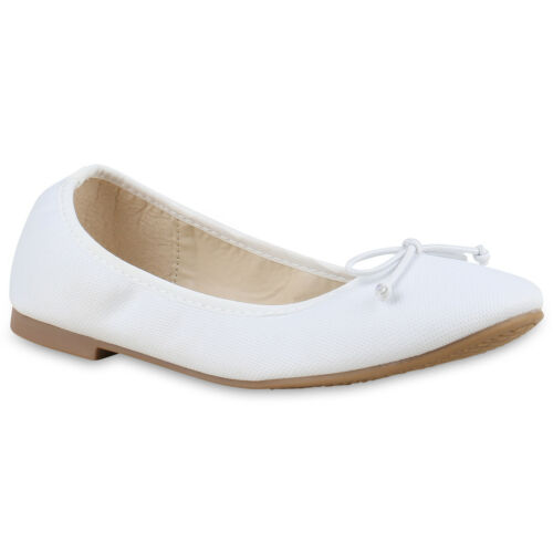 Klassische Damen Ballerinas Lack Slipper Flats Schuhe 814761 New Look