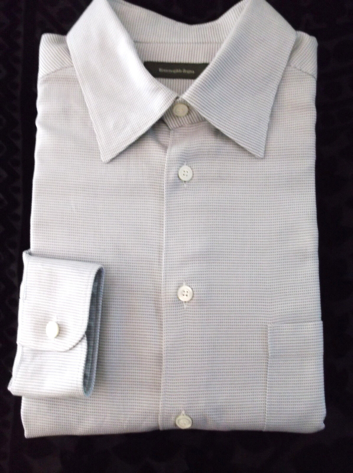 Ermenegildo Zegna Beige and Braun Dot Shirt Made in Itlay  Größe XL Button Down