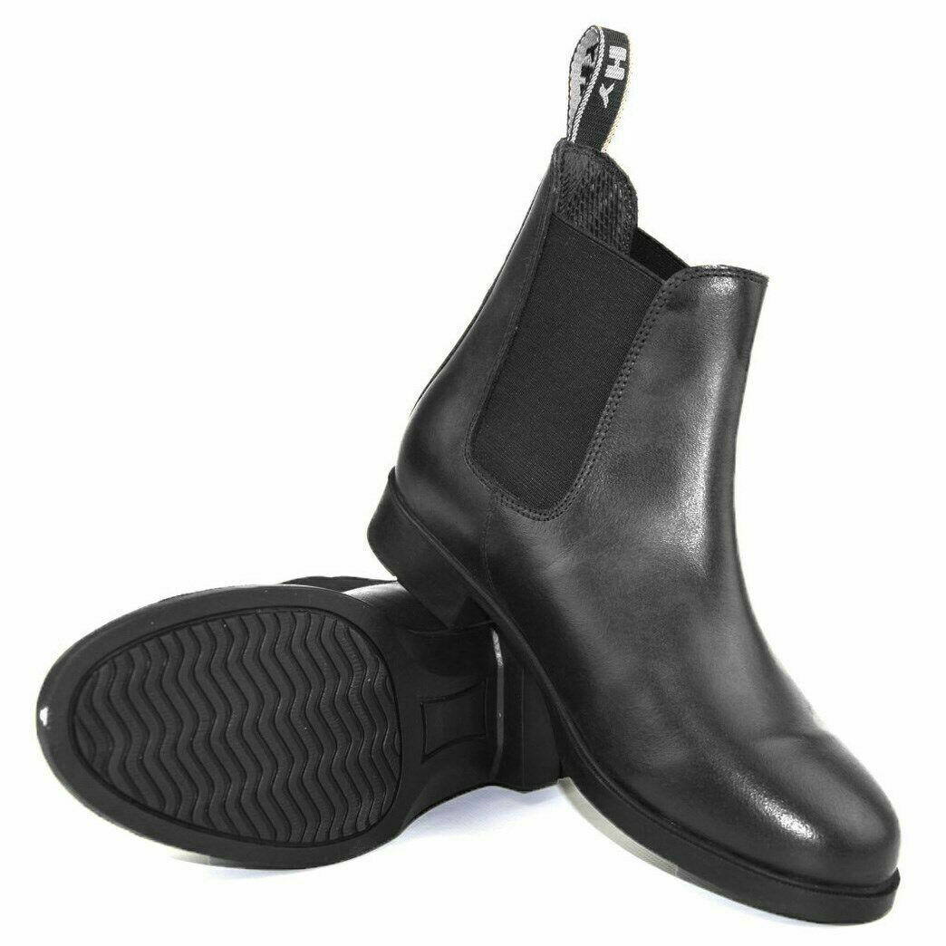 HYLAND DURHAM ADULTS PULL ON LEATHER JODHPUR Stiefel GrößeS UK 4-8