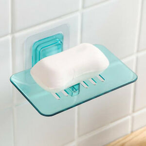 Plastic Bathroom Shower Strong Suction Cup Soap Dish Tray Wall Holder 8C
