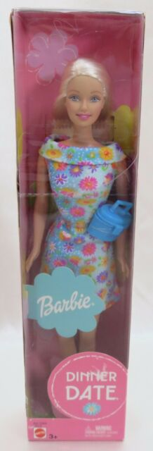 Barbie Doll Dinner Date Blond Blue Dress New Old Stock Never Removed from Box