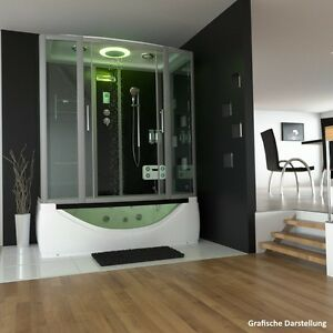 das bild wird geladen tronitechnik duschtempel duschkabine whirlpool wanne badewanne dusche 170x90