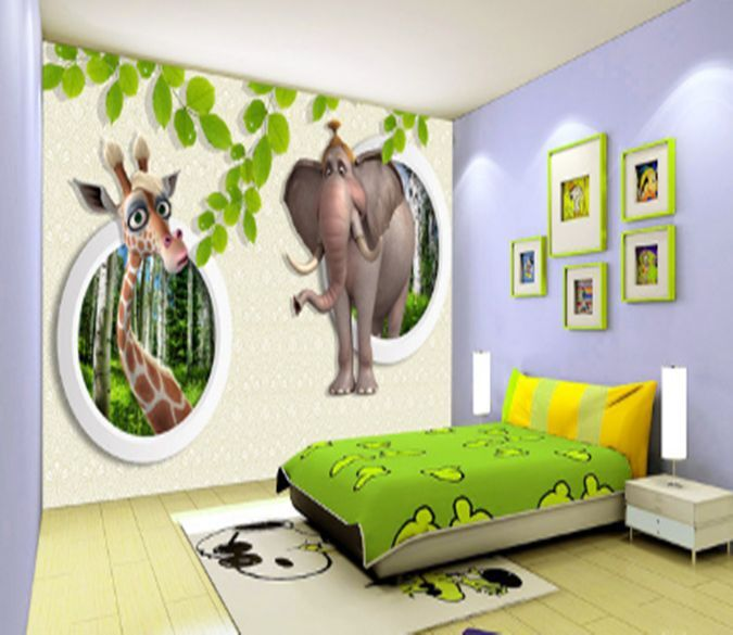 3D animale 355 Parete Murale Foto Carta da parati immagine sfondo muro stampa