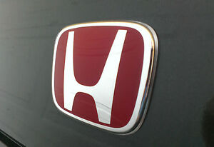 Red Honda Type R Style Badge Emblem 75731 Tfo 003 92 X 75mm Uk Stock Ebay