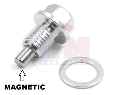 Hard Anodized Aluminum MAGNETIC Black Oil Drain Plug ADP541BLK for Mercedes Benz