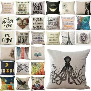Cotton-Linen-Pillow-Case-Car-Sofa-Bed-Waist-Throw-Cushion-Cover-Decoration-Home