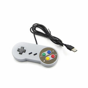 Retro-Super-Nintendo-SNES-Controller-USB-jopypads-per-Win-Mac-PC-GAMEPAD-SF