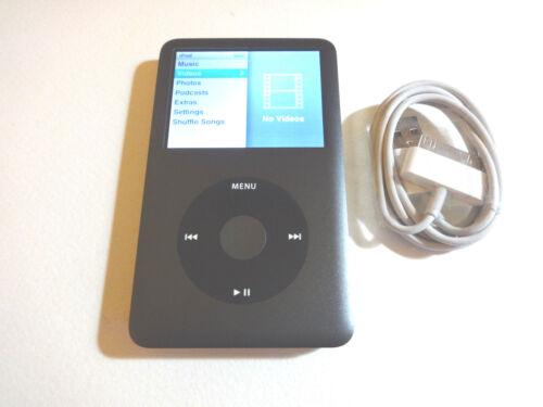 BLACK  128GB  SSD  DRIVE...NEW BATTERY... APPLE  iPOD  CLASSIC  7TH GEN
