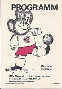 Programm-BFC-Dynamo-FC-Hansa-Rostock-1981-82