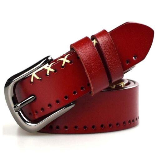 Western white rhinestone bling crystal studded genuine cow leather strap belt
