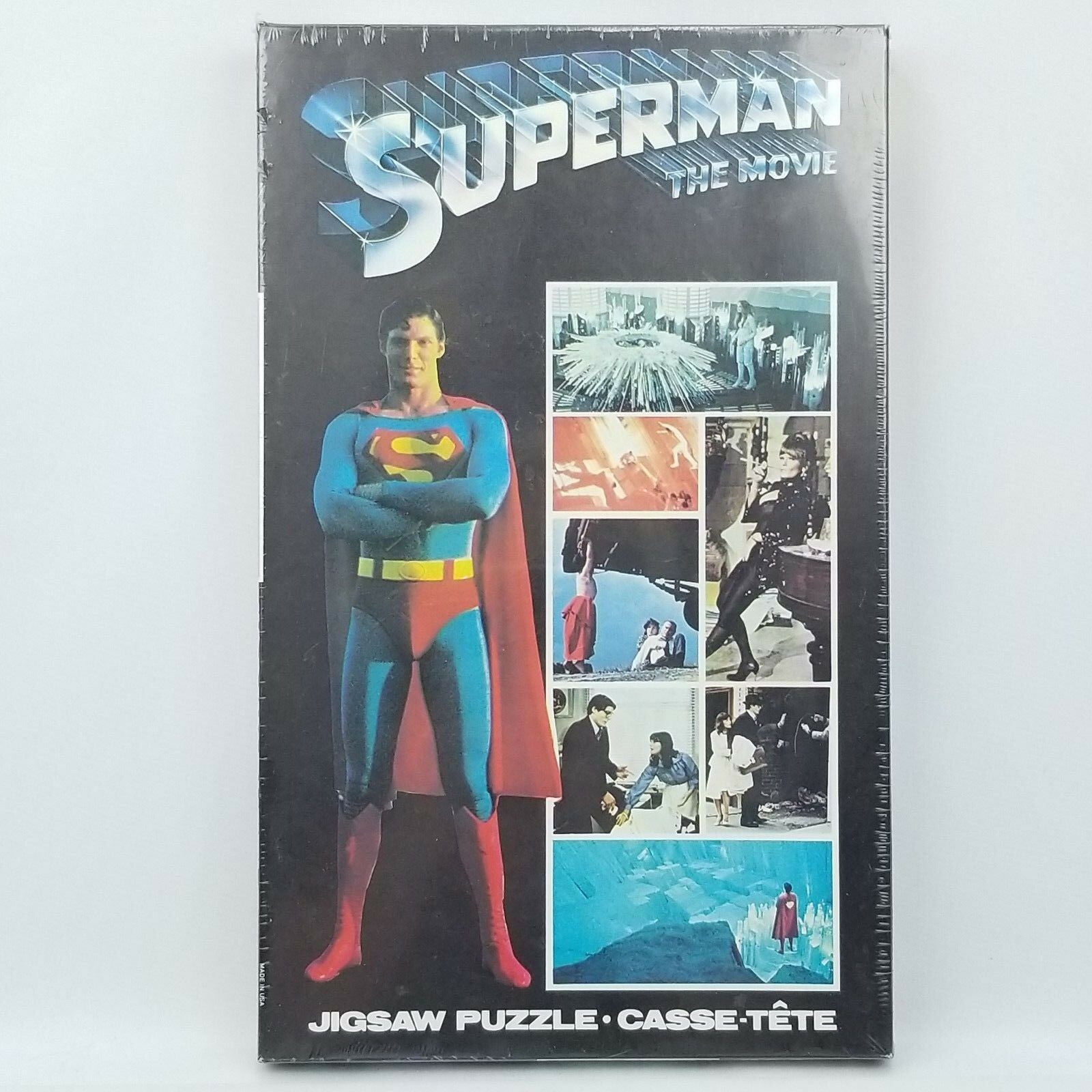 1978 Superman the Movie 200 Piece Jigsaw Puzzle Factory Sealed Box APC DC Comics