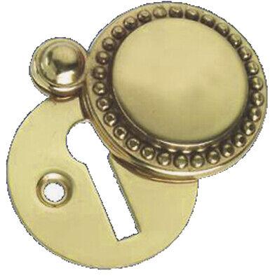 OriginalForgery Solid Polished Brass Victorian Door Key open Escutcheon