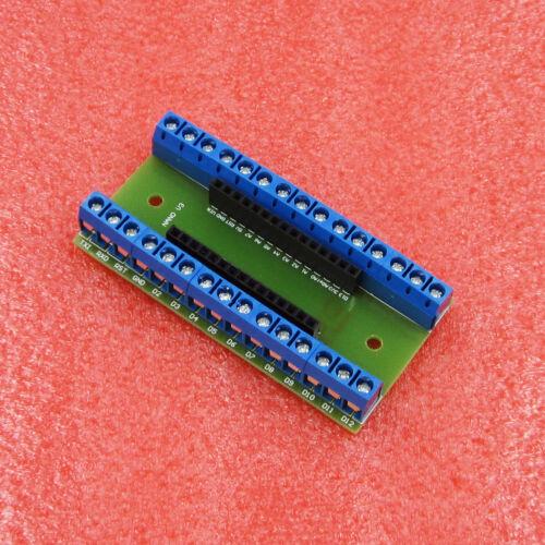 2PCS Nano Terminal Adapter the Arduino Nano V3.0 AVR ATMEGA328P-AU Module Board