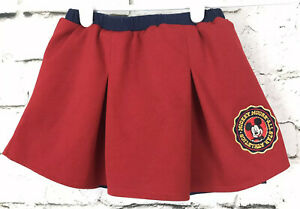Baby-Girl-Mickey-Mouse-Athletic-Club-Red-and-Blue-Pleated-Skort-Size-24M