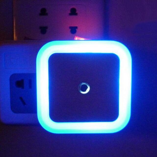 0 5w Plug In Auto Sensor Control Led Night Light Lamp Bedroom Hallway Us Plug Night Lights Home Garden