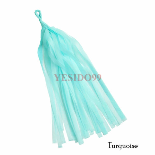 5pcs//set Tissue Paper Tassels Garlands Bunting Wedding Party Baby Show Decor