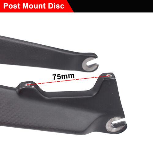 "MTB Mountain Bike Front Fork 26//27.5//29/"" Carbon//AL 1-1//8/"" Threadless Rigid Fork"