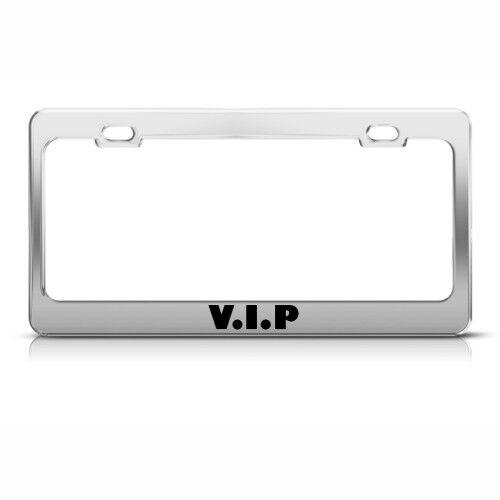 VIP Metal License Plate Frame Tag Holder