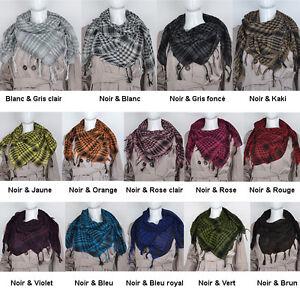 53f8f8c0e3df Keffieh a carreaux écharpe foulard pour hommes et femmes 100 100 cm ...