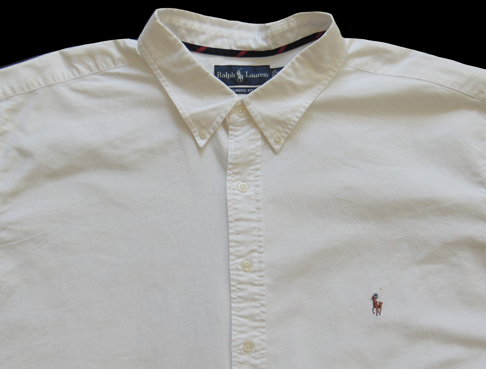 Men's RALPH LAUREN White S S Pinpoint Oxford Shirt 4XLT TALL NWT Classic Fit