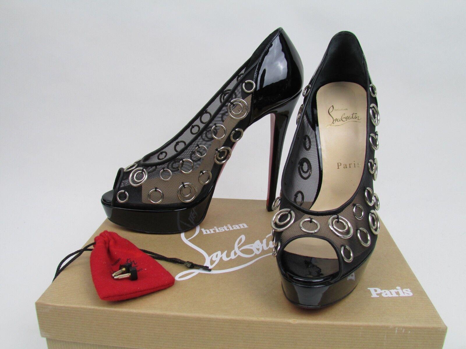 Christian Louboutin Pierce 140 Patent Calf Heels 38.5 UK 5.5