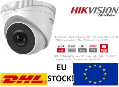 HIKVISION HWI-T240H VIDEO-ÜBERWACHUNGS-KAMERA 4MP IR 30M 100°