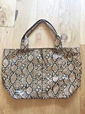 New Mango Faux Snake Skin Foldable Bag