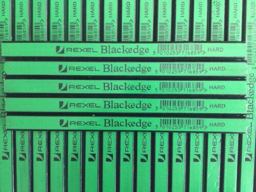 20 X CARPENTERS PENCILS BLACKEDGE  REXEL H Hard Green wood brick plaster NEW