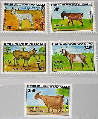 100% Wahr Mali 1984 983-87 483-87 Goats Ziegen Fauna Tiere Animals Nutztiere Mnh Reich Und PräChtig