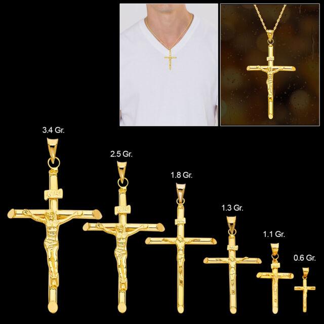 Goldia Sterling Silver Antiqued INRI Crucifix Pendant