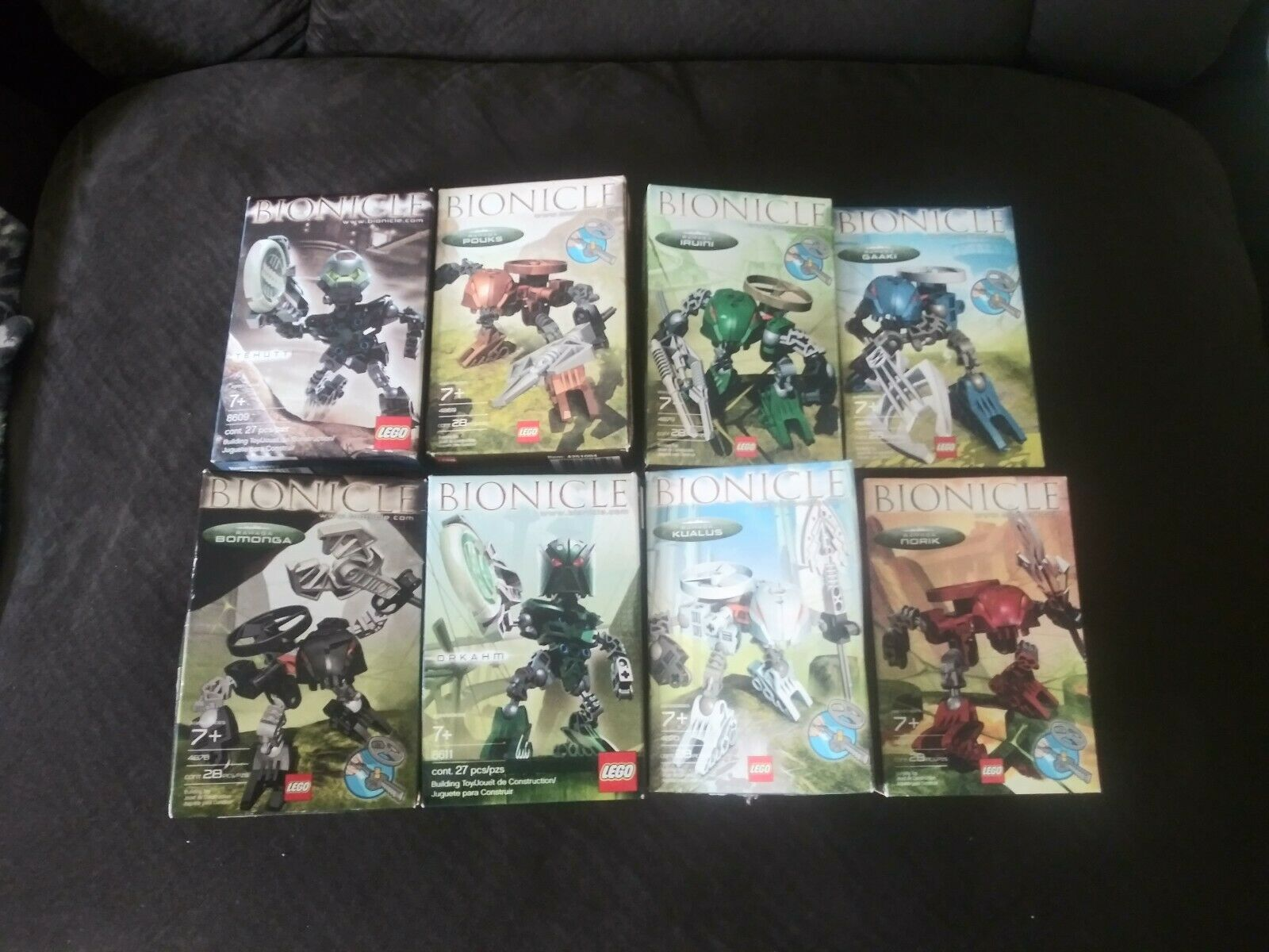 LEGO BIONICLE BIONICLE BIONICLE 4868,4869,4870,4877,4878,4879,8609,8611 COMPLETE FIGURES in Box 977dea