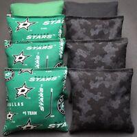 Dallas Stars Cornhole Bean Bags 8 Aca Regulation Toss Bags Nhl Hockey Fans Gift