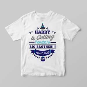 Personalised Promoted To Big Brother Children/'s Kids T Shirts T-Shirt Top