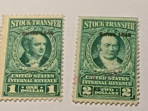 US STAMP REVENUE STOCK TRANSFER SCOTT #RD271 AND 272